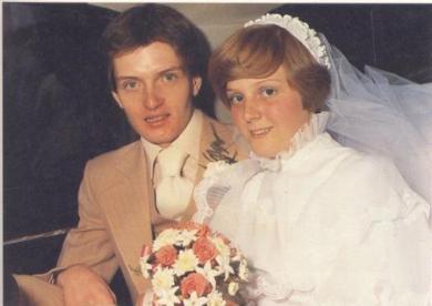 Ian Curtis E Deborah no casamento em 1975
